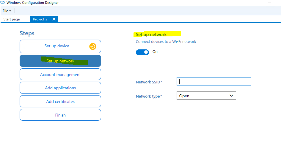 Windows 10 1709 Lets connect you to a network