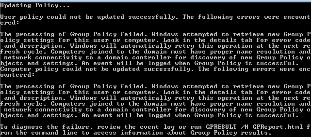 How do i force a group policy update windows 7 reinstall dbconsole windows