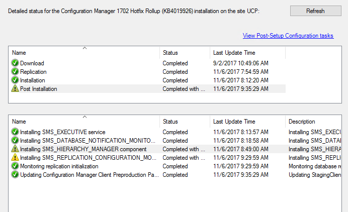 Update Configuration Manager 1702 Hotfix Rollup (KB4019926