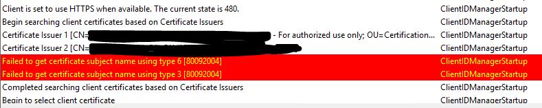 Client deployment fails