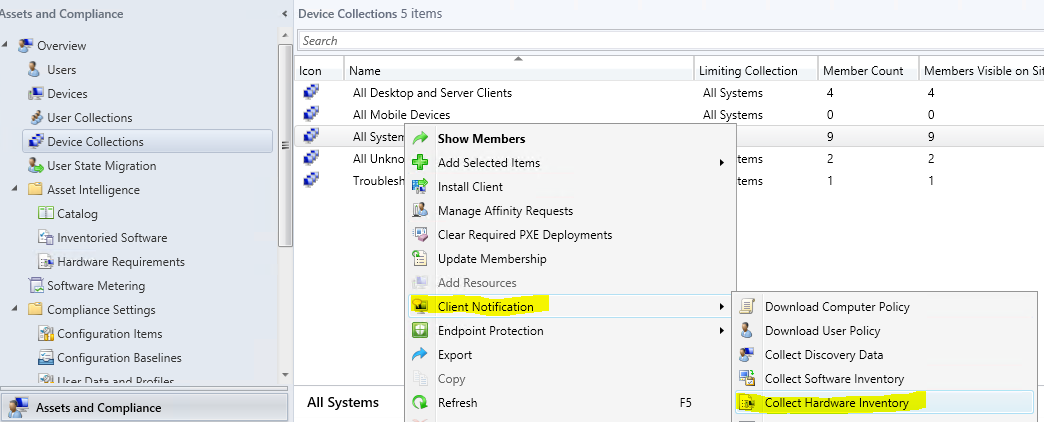 Unable to view the installed software list through SCCM