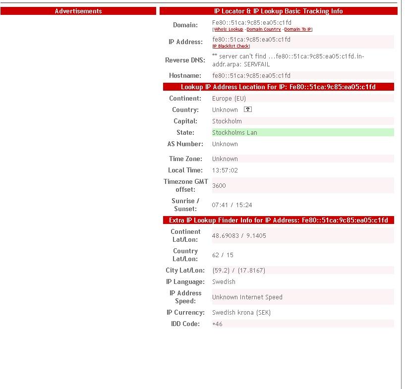 Lan IPv6 not related to my machine mac nor