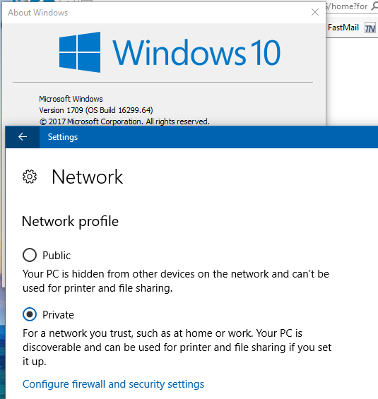 windows 10 change network private to work