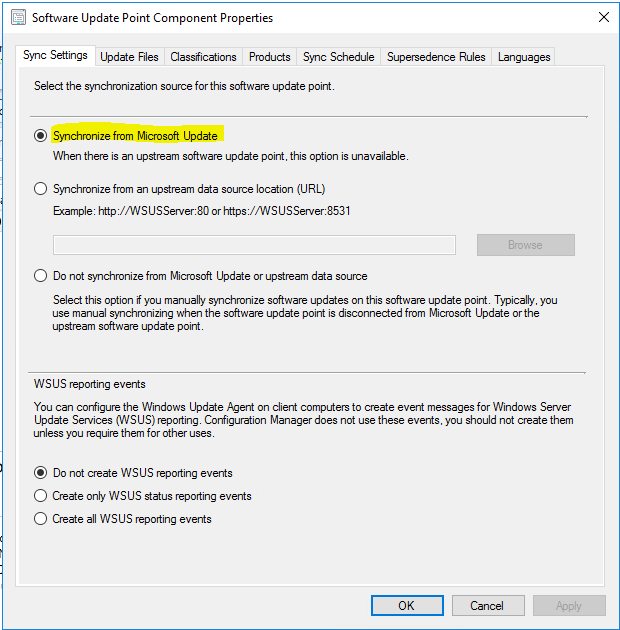 Confirm SCCM is pulling Windows Updates from WSUS?