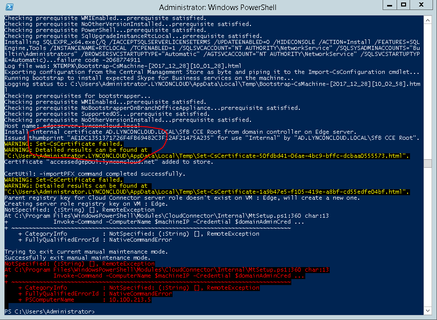 Cce Cloud Connector Certificate Error