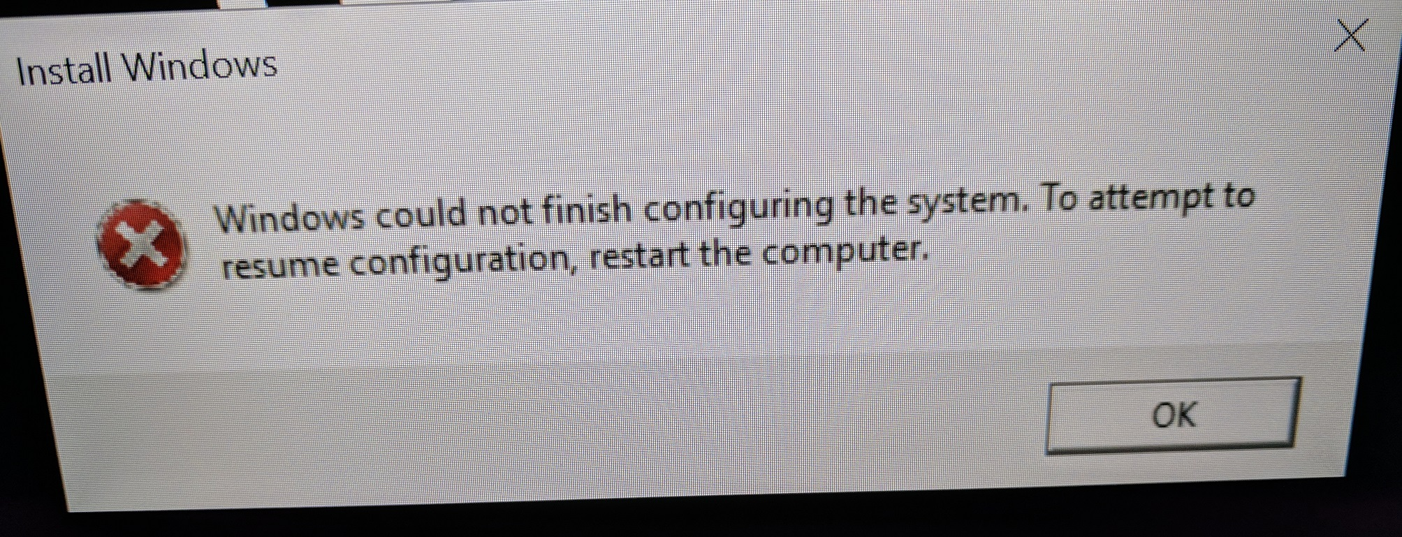 How do I fix this error after a sysprep and capture completes?