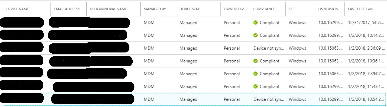 Intune device not showing as compliant