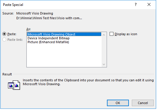 Having problems pasting visio 2016 drawings into word 2016 please try other pasted settings such as microsoft visio drawing object ccuart Gallery