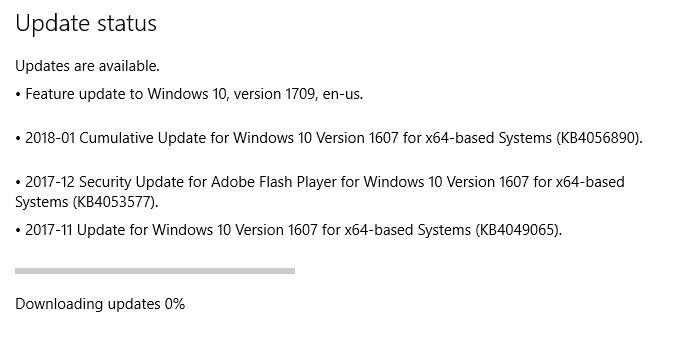 windows 10 upgrade stuck at 0 downloading