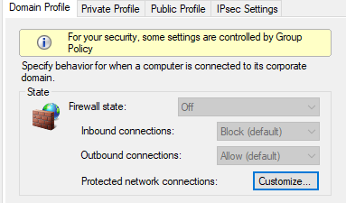 turn firewall off group policy
