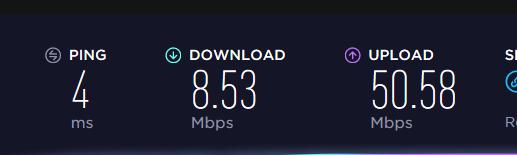 Download speed much slower than Upload speed