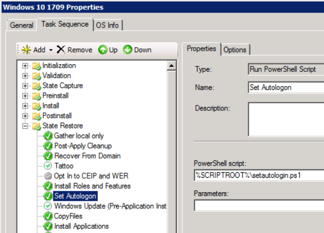 Windows 10 deployment stuck at Administrator login