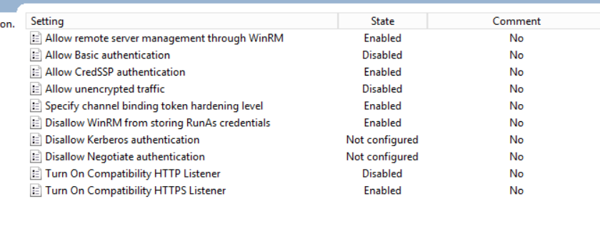 WinRM HTTP -> cannot disable