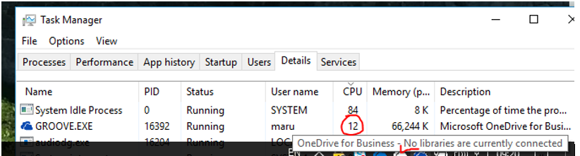 OneDrive for Business uses high CPU since Office 365 1712 8827 2148