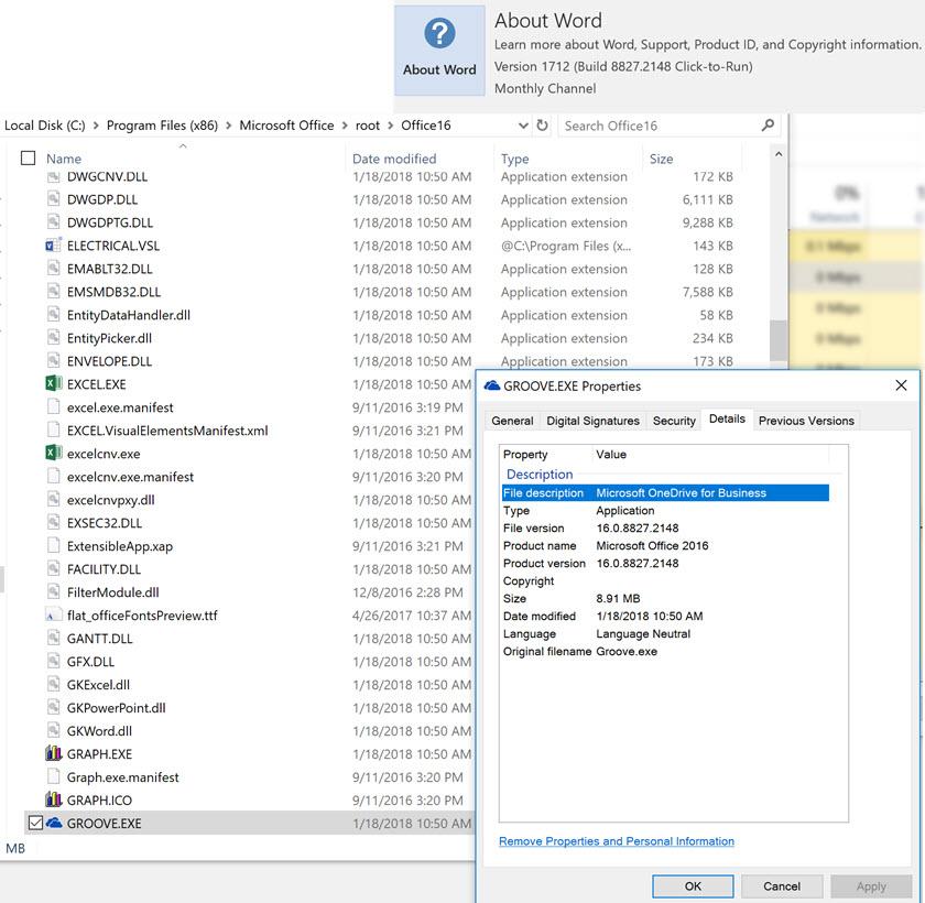 Microsoft onedrive setup cpu