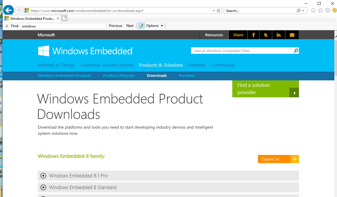 DOWNLOAD LINK FOR WINDOWS EMBEDDED STANDARD 7 OS