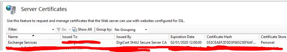 Expired Cert Security Alert