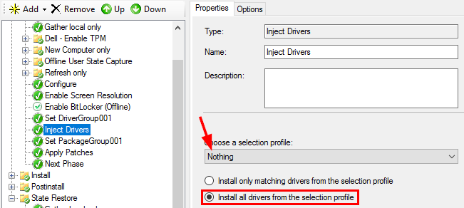 Can someone please help me get Make and Model driver injection