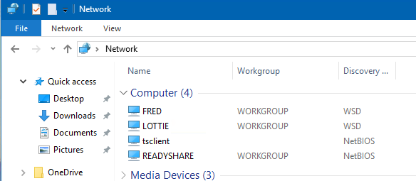 Network Discovery not working after win10 1709 update