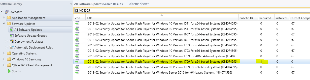 Latest Security Updates for Flash Player for Windows 10 not