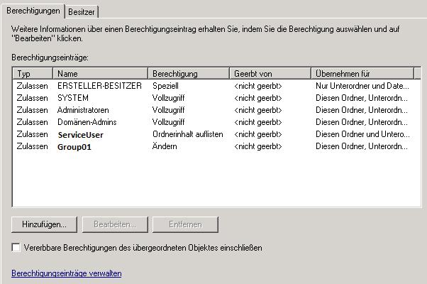 NTFS-Berechtigungen