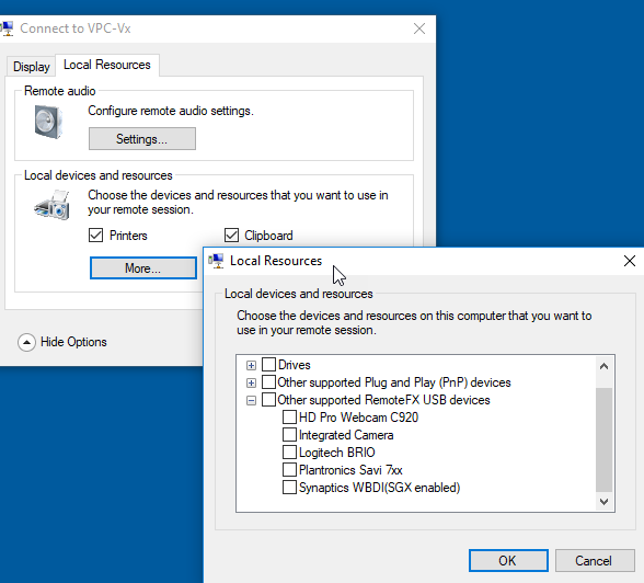How to add Webcam to a HyperV Virtual Machine