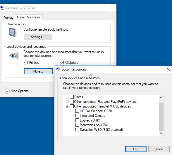 How to add Webcam to a HyperV Virtual Machine