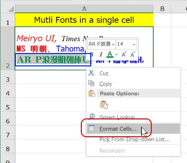 Excel 2016 - I type both English and Arabic Text in my