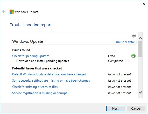 Server 2016 Update Problems/Questions