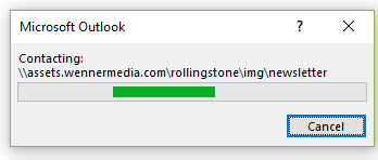 Outlook 2016 very slow downloading email graphics from just