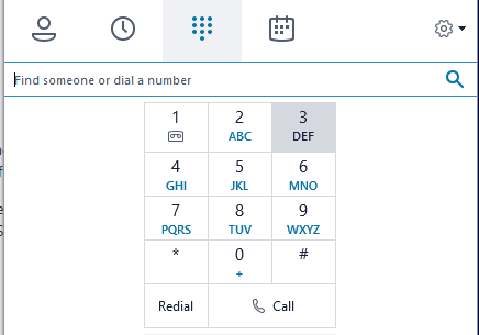 1239399 - How To Get Dial Pad In Skype For Business