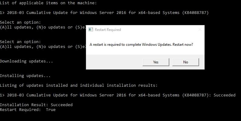 Windows Server 2016 Stuck Downloading Updates