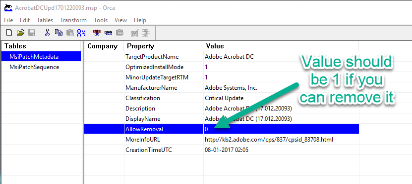 Installing MSP with SCCM