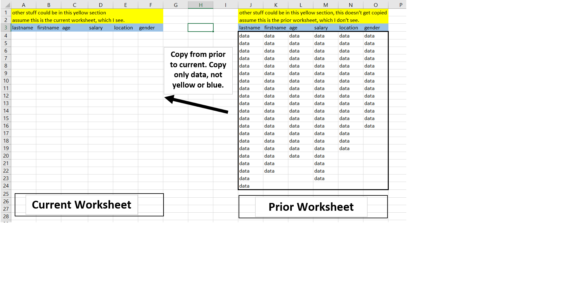 Copy used range from one workbook to another, excluding top row