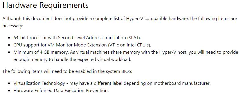 Error install Hyper-V feature