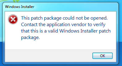 Trying to install MSP file
