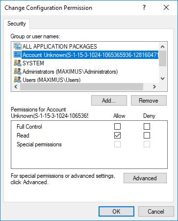 RuntimeBroker Permission Error