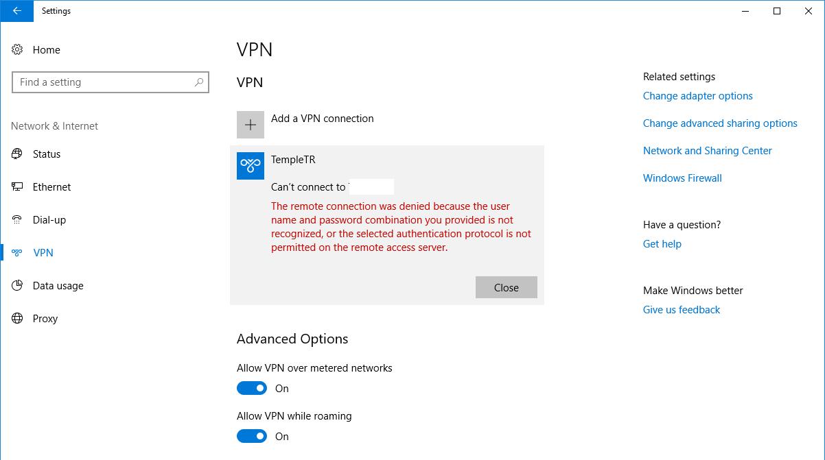 1247242 - Windows 10 Pptp Vpn Won T Connect