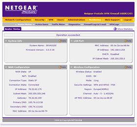 BK SRXN3205 Status Page
