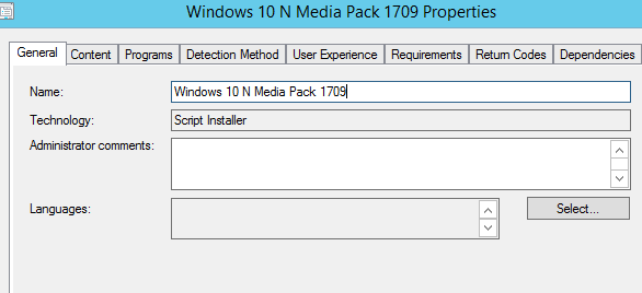 How to deploy Feature Media Pack via sccm?
