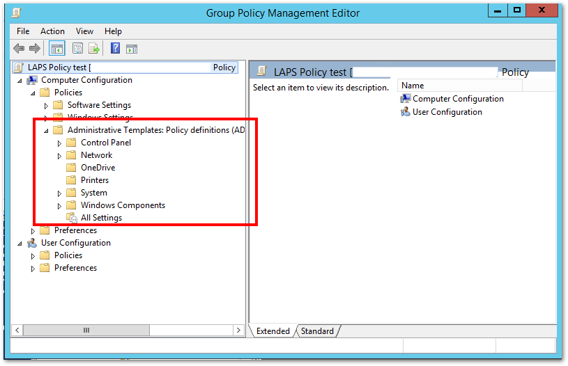 Laps And Group Policy Templates Issue