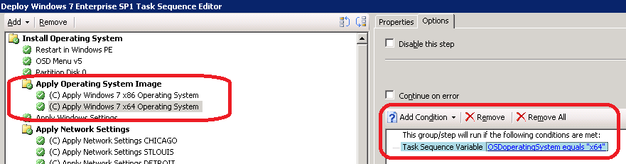 Enabling Remote Desktop for Windows 7 as a task sequence