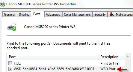 Wsd Printer Driver Windows 7