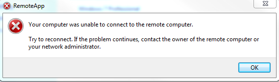RemoteApp Problem