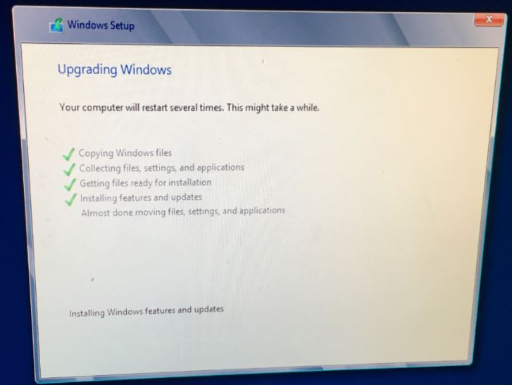 Can not start boot Windows Server 2012 when upgarde in place Windows