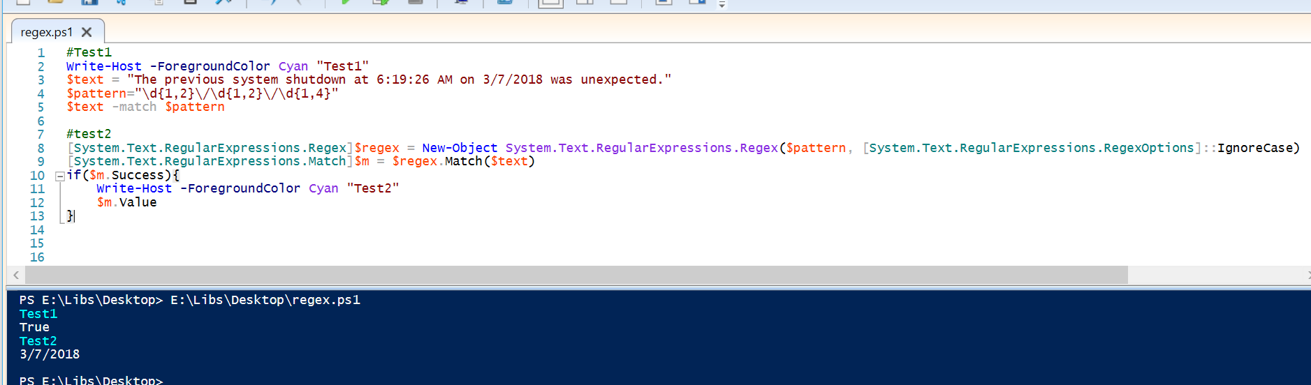 Powershell - simple regex to find a date only
