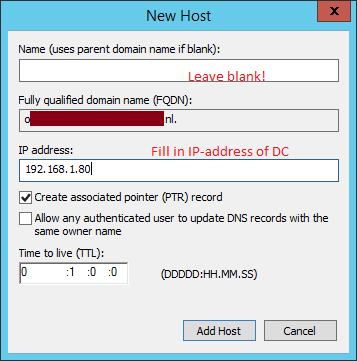 Server 2012 R2 add dns record Windowstechblog.nl