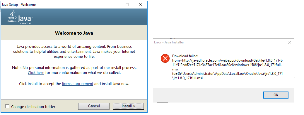 Can we install Java 8 in Windows server 2016