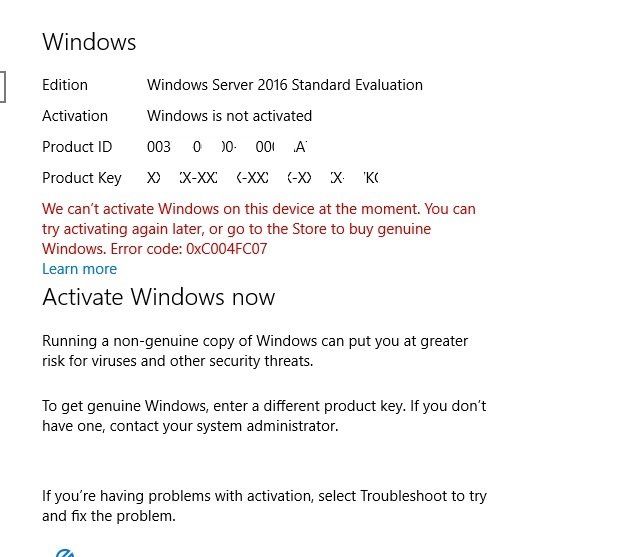 windows is not genuine 0xc004f057