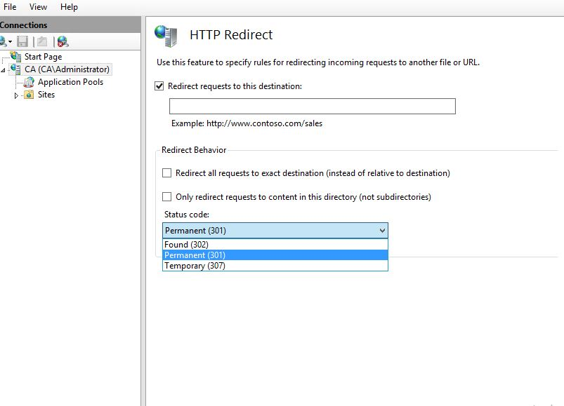 IIS 8 4 How to redirect http://www example com to https